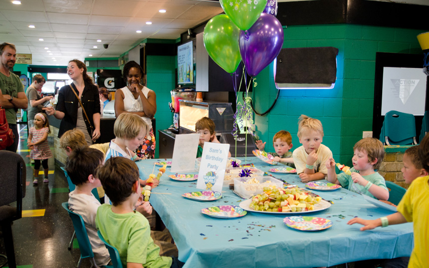 Inflatable World Birthday Party Ideas